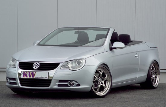 kw vw eos 550x356 KW coilover suspensions, sport suspension for VW Eos