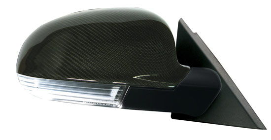 carbon mirrors Sporty wing mirrors with LED indicators for the Golf IV