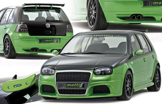 mattig golf 4 bodykit 550x356 VW Golf IV gets mind blowing optics