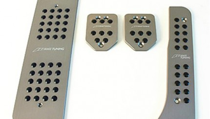 pedals mk5 m gunmetal 430x244 Pedal cover set for VW GTI