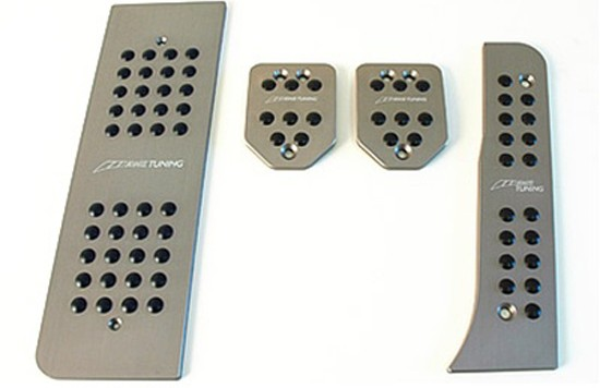 pedals mk5 m gunmetal 550x356 Pedal cover set for VW GTI