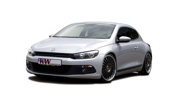volkswagen scirocco tuning Scirocco suspension from KW