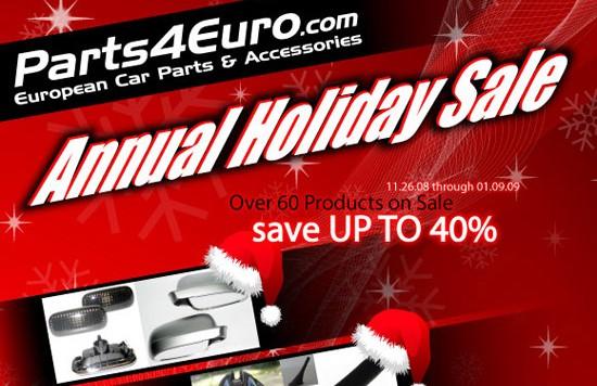 holidaysale2008 550x356 Parts4Euro.com Announces Annual Holiday Sale!