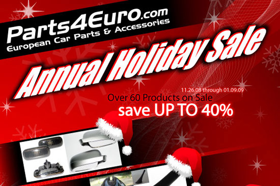 holidaysale2008 Parts4Euro.com Announces Annual Holiday Sale!
