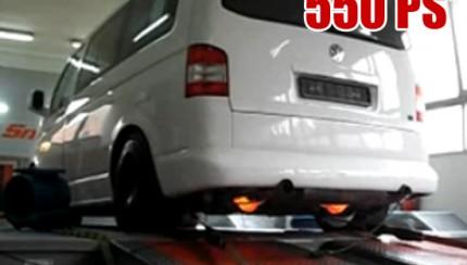 t5 dyno 430x244 Volkswagen T5 van with 558PS