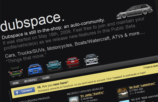 dubspace 550x356 A social network for Volkswagen owners!