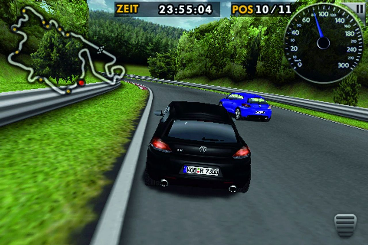 Vw scirocco r race game iphone app available for free download.