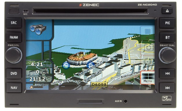 0911 zenec nc2040 naviceiver 300 628x384 Vehicle specific navigation especially for the VW Golf IV