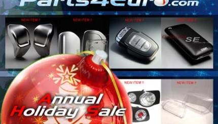 parts4euroth 430x244 Parts4Euro.com Announces Annual Holiday Sale