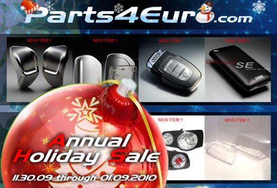 parts4euroth Parts4Euro.com Announces Annual Holiday Sale