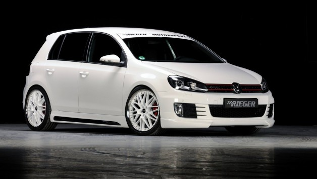 vw golf mk6 rieger 4 628x356 VW Golf GTI Styling by Rieger