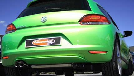 Scorpion Scirocco Petrol Rear View 430x244 Scorpion Unleash New VW Scirocco 1.4 and 2.0 TSi Exhaust System
