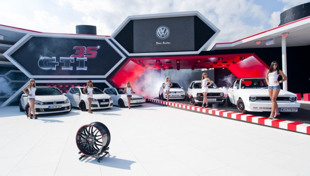lake30 live on stage 2 628x356 Dotz style unites six generations of VW Golf