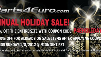 HolidaySale2011 430x244 Parts4Euro.com Annual Holiday Sale is Here!