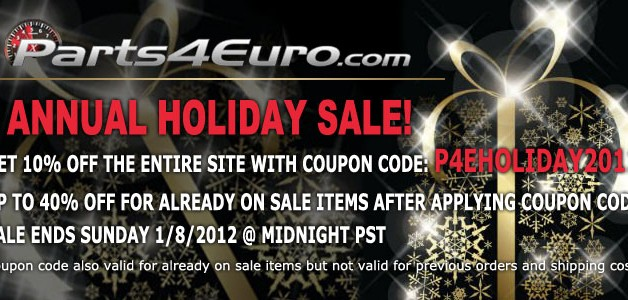 HolidaySale2011 628x300 Parts4Euro.com Annual Holiday Sale is Here!