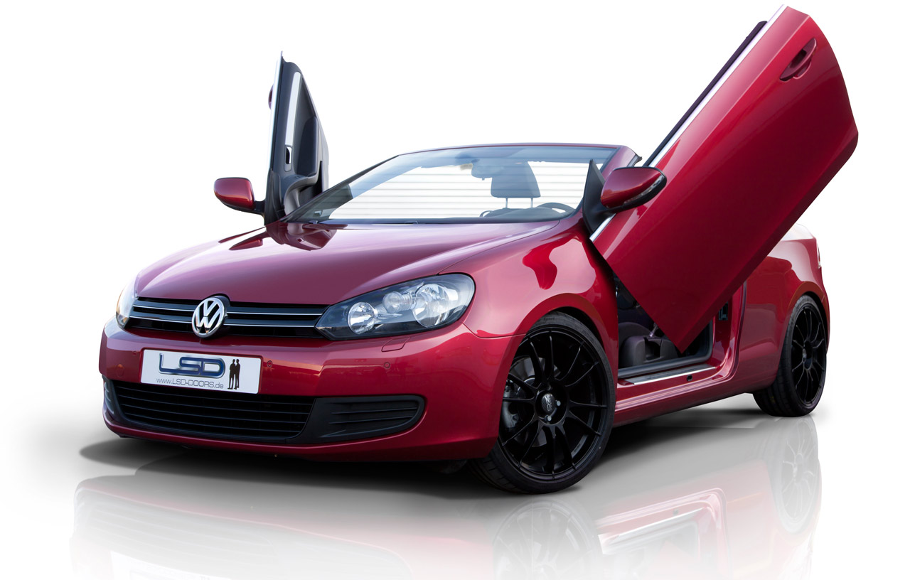 volkswagen golf vi convertible lambo effect with lsd doors. Black Bedroom Furniture Sets. Home Design Ideas