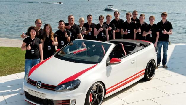 vw golf gti cabrio 1 628x356 Volkswagen apprentices present Golf GTI Cabrio