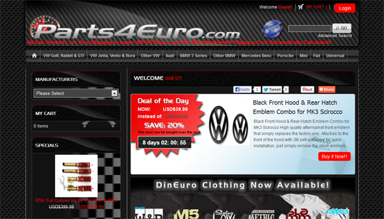 parts4euro2 Parts4Euro.com brand New Website