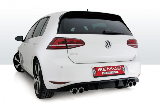 VW Golf VII GTI ER84C WEB 628x418 REMUS sport exhaust with rear skirt for the VW Golf VII GTI