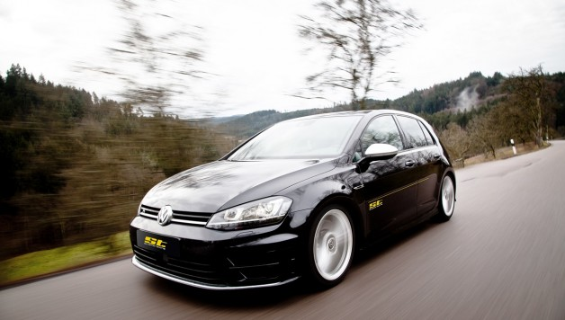 ST Golf 7 R Fahraufnahme01 628x356 Best performance for the street: VW Golf R Spacers and sports springs