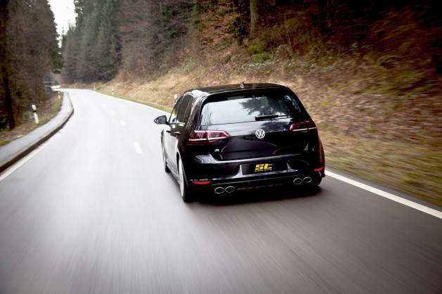 ST Golf 7 R Fahraufnahme02 628x418 Best performance for the street: VW Golf R Spacers and sports springs