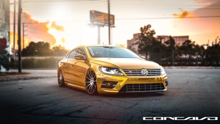 concavo wheels vw cc 2 430x244 Volkswagen CC R Line on Concavo Wheels