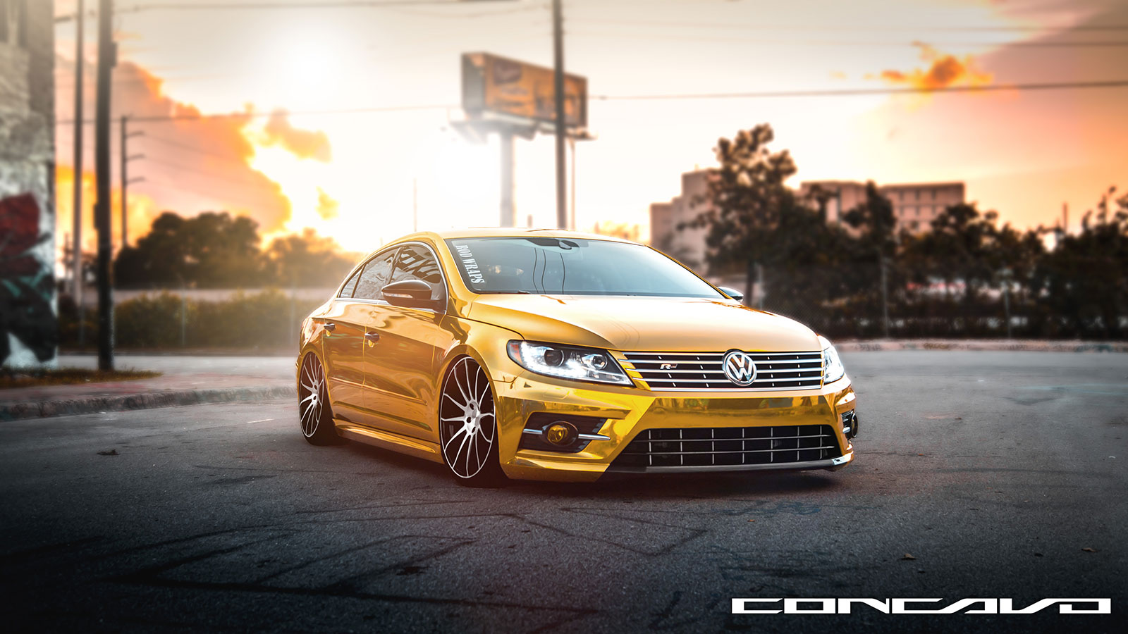 volkswagen cc r line on concavo wheels. Black Bedroom Furniture Sets. Home Design Ideas