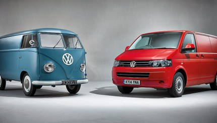 Transporter T1 with T5 430x244 Volkswagen Transporter Celebrates Six Decades of UK Success
