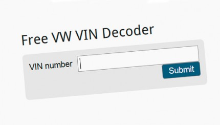 free vin decoder 430x244 Check VolksWagen VIN number