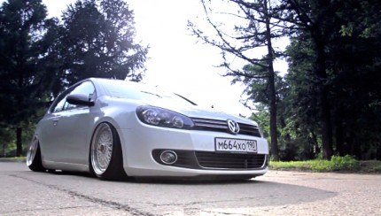 vw golf mk6 bbs wheels 430x244 VW Golf mk6  White in daylight