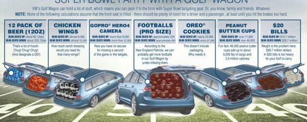 golf 628x250 Hauling A Super Bowl Party In A VW Golf