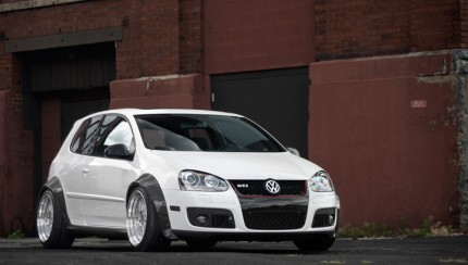 vw golf 5 flares 16 430x244 ECS Carbon Fiber Fender Flare Kit for VW Golf V GTI