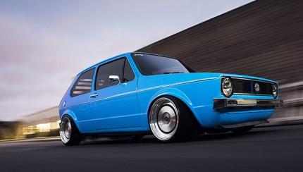 vw golf mk1 blue 430x244 Use The Force...VW Golf mk1