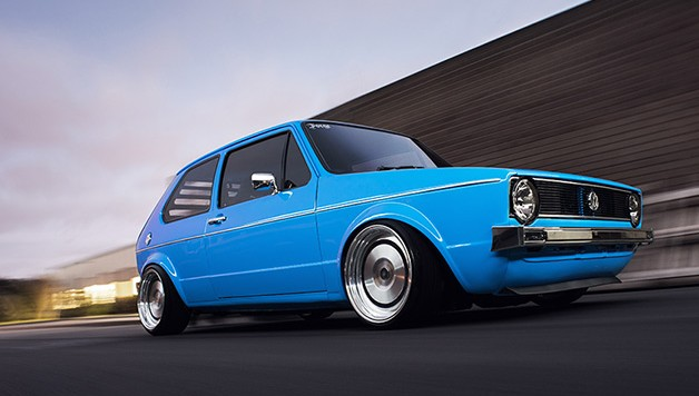 vw golf mk1 blue 628x356 Use The Force...VW Golf mk1
