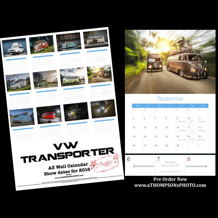 aTHOMPSONsPHOTO 2 2016 VWClassics / 2016 VWT4 Calendar / 2016 VWT5 Calendar