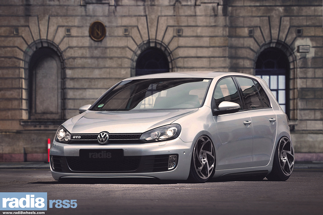 Vw Golf Mk6 Gtd Silver Radi8 1 628x356 Volkswagen On RADI8 Wheels