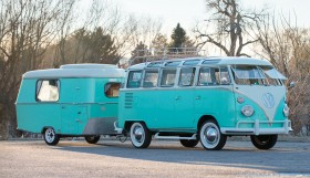 vw transporter auction 2 280x161 1963 Volkswagen 23 Window Microbus With Trailer