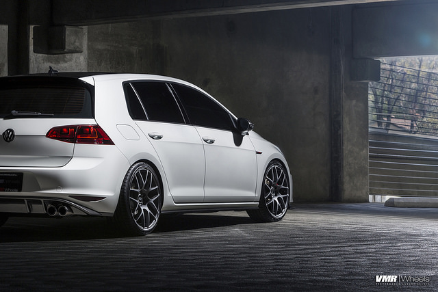 vw golf 7 vmr wheels 7 VW MK7 GTI on V710FF Matte Graphite 19″