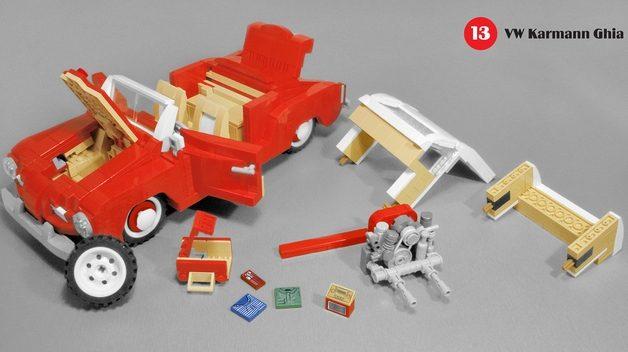 karmann guia lego 5 628x352 Lego Karmann Guia