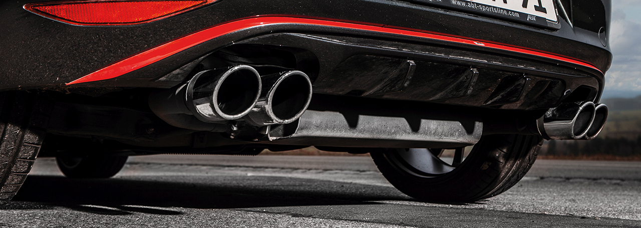 ABT GolfVII GTI antrazith rear valance input ABT tunes the VW bestseller at a bargain price