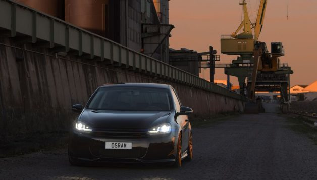 osram LED driving Golf 5 1 628x356 OSRAM launches new retrofit upgrade headlamps for VW Golf VI drivers