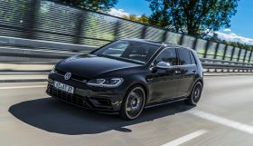 ABT Golf VII R driving diagonal front 280x161 400 HP in the ABT Golf VII R