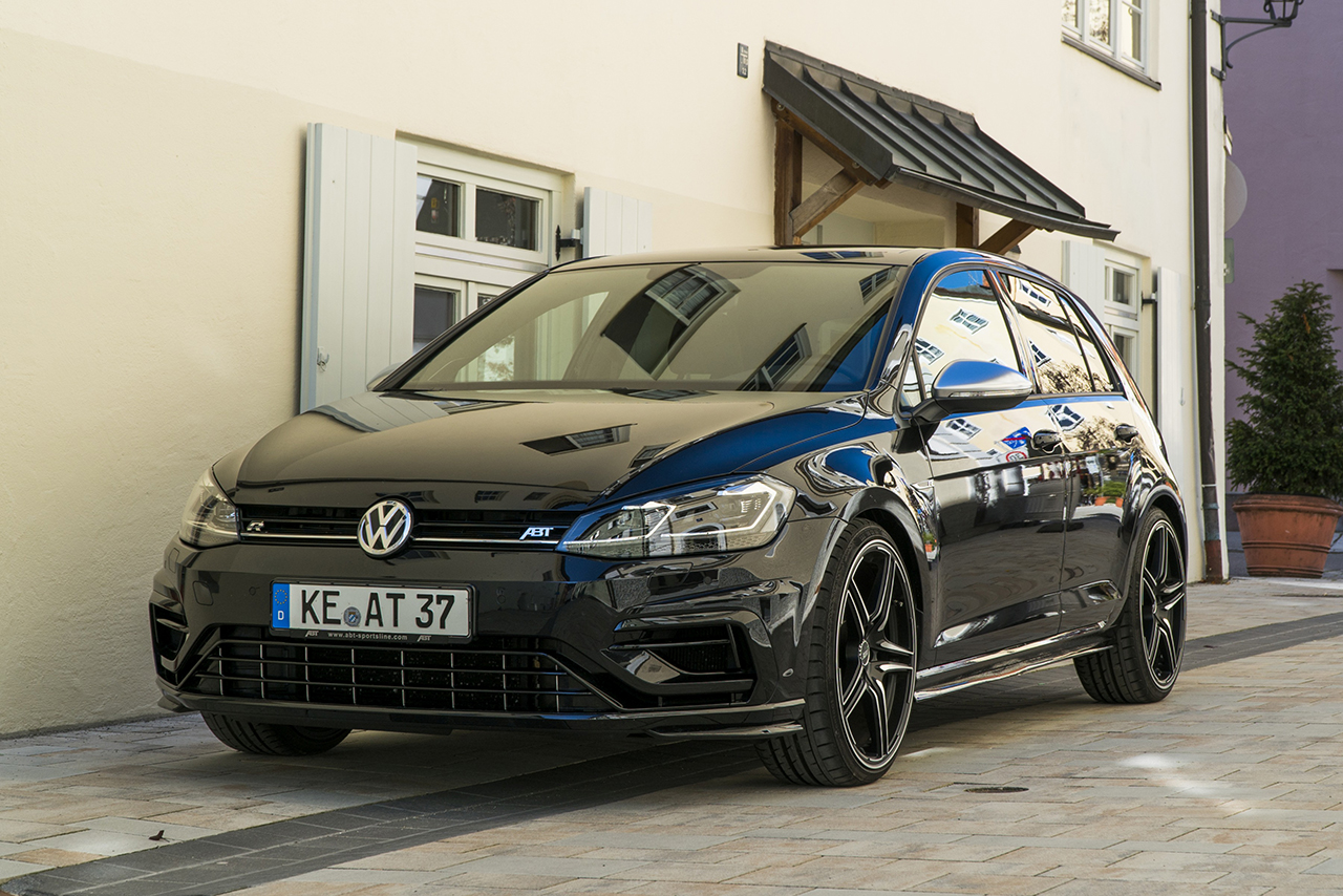 ABT Golf VII R standing diagonal front 400 HP in the ABT Golf VII R
